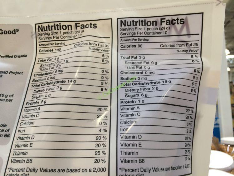 Costco 1062847 Made Good Organic Granola Minis Chart