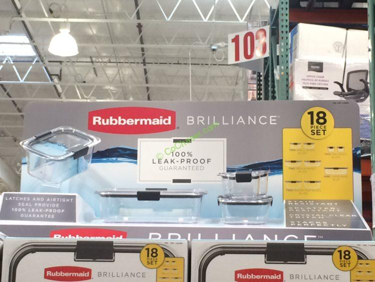 Costco-1103099-Rubbermaid-Brilliance-18PC-Food-Storage-Set