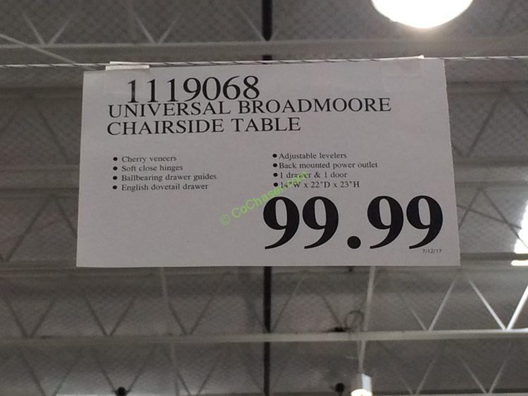 Universal Broadmoore Chairside Table Costcochaser