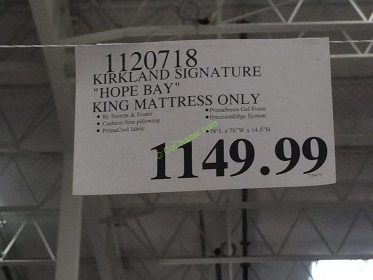 Kirkland Signature Hope Bay King Mattress Only
