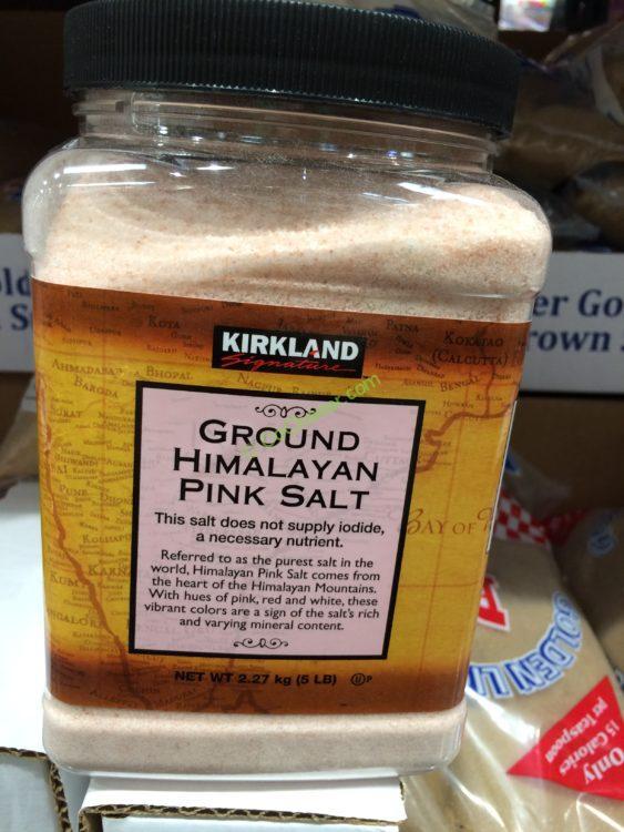 Kirkland Signature Himalayan Pink Salt 80 Ounce Container