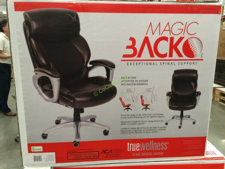 Costco 1135060 True Innovations Magic Back Manger Chair