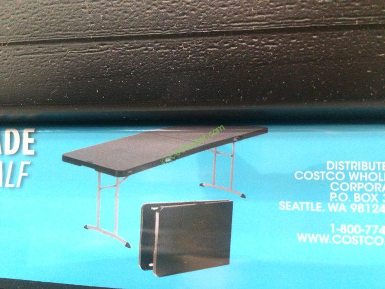 Lifetime Products 8ft Fold In Half Table Costcochaser