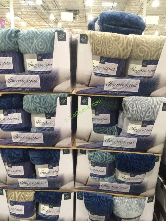 "Life Comfort Impressions Plush Throw 40"" X 40"" CostcoChaser Interesting Soft Throw Blanket Costco"