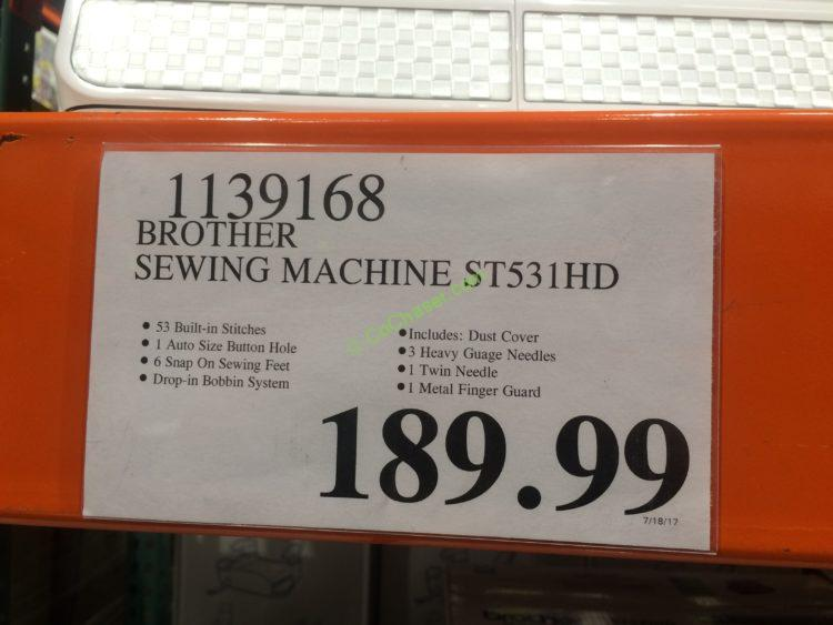 Costco 1139168 Brother Computerized Sewing Machine