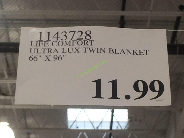 Life Comfort Ultra Lux Twin Blanket 66 X 96 Costcochaser