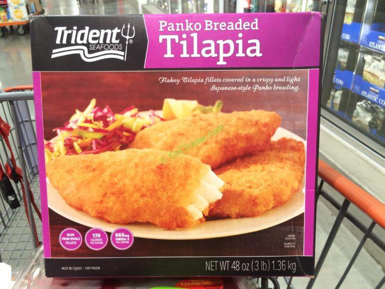 Trident Seafoods Panko Breaded Tilapia 3 Pound Box