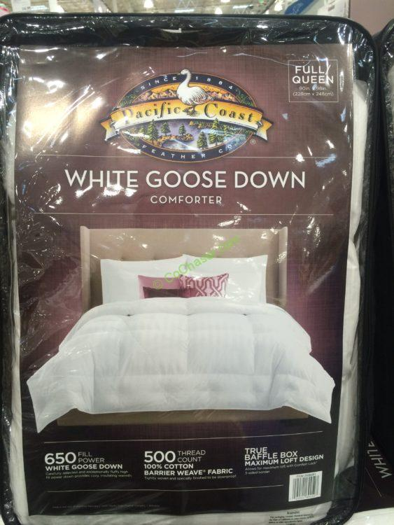 Costco 2988991 Pacific Coast Feather White Goose Down Comforter