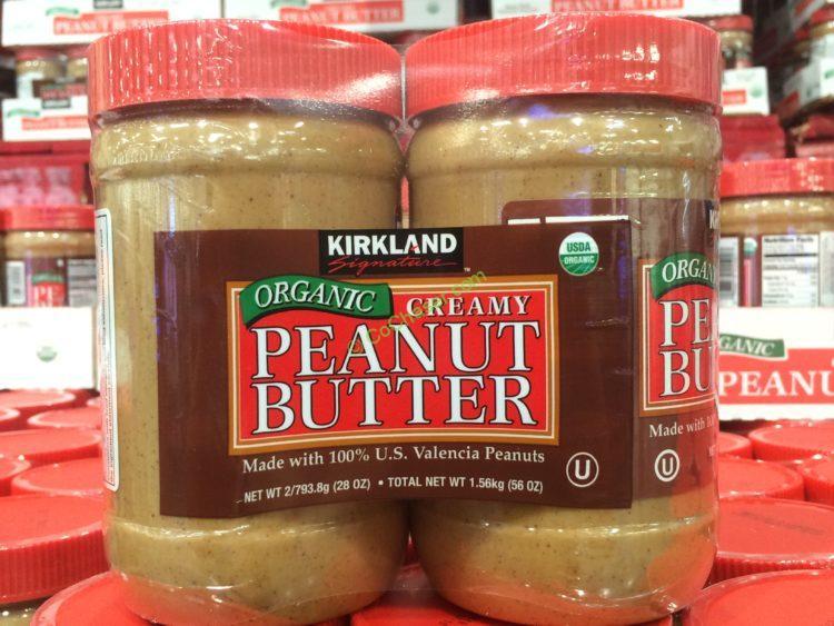 Kirkland Signature Organic Peanut Butter 2/28 Ounce Jars