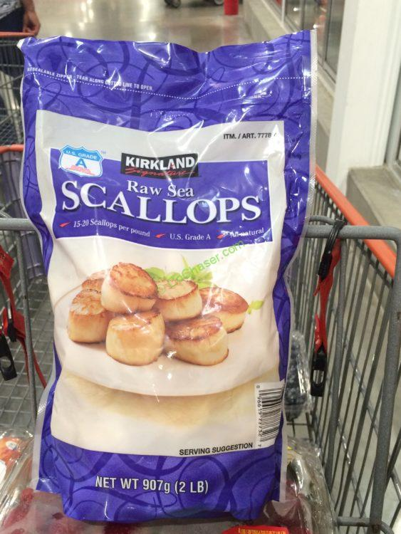 Kirkland Signature Raw Sea Scallops 2 Pounds Bag