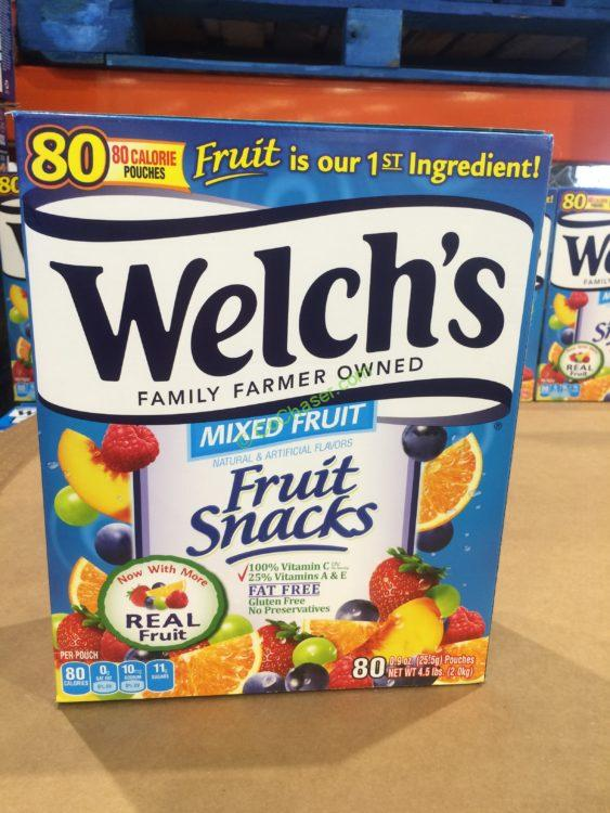 Welch's Fruit Snacks 80 Count Box