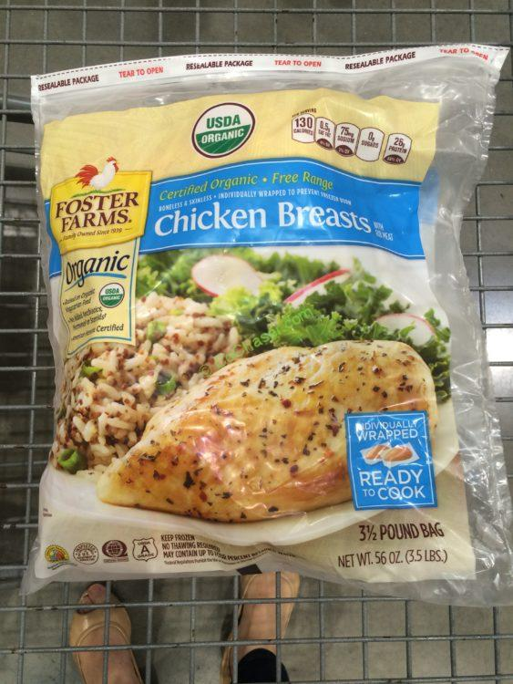 Foster Farms Organic Chicken Breast 3.5 pound Bag