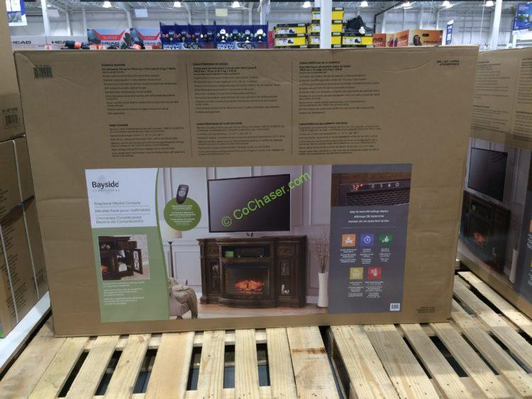 Costco 1049034 Bayside Furnishings Electric Fireplace 65