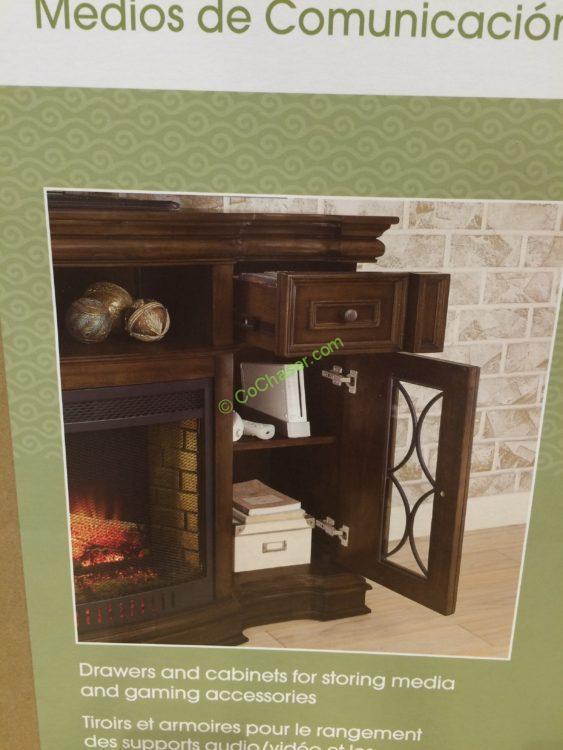Costco 1049034 Bayside Furnishings Electric Fireplace 65