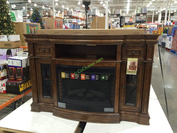 Bayside Furnishings Electric Fireplace 65 Media Console Costcochaser
