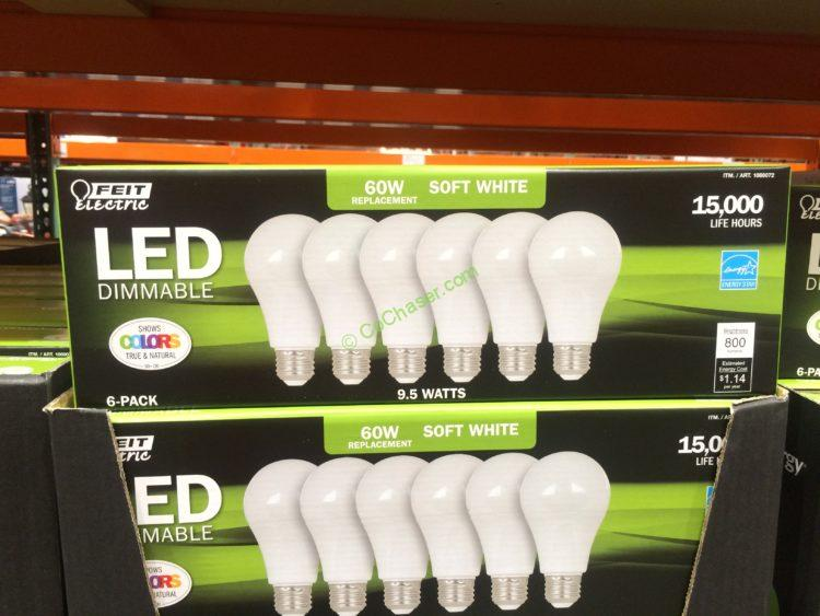 Feit Electric LED 60W Replacement 6 Pack