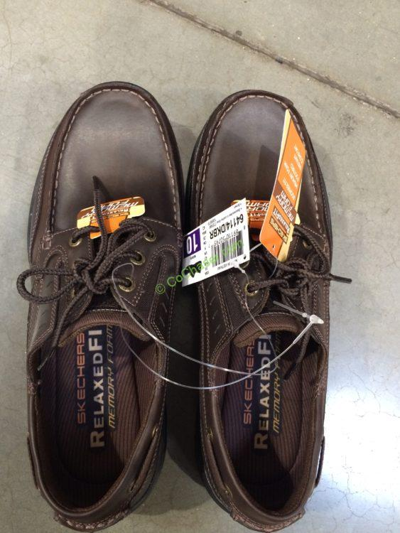 Skechers Men's Leather Lace-up Shoe