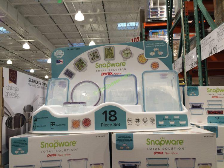 Snapware 18PC Glass Food Storage Set