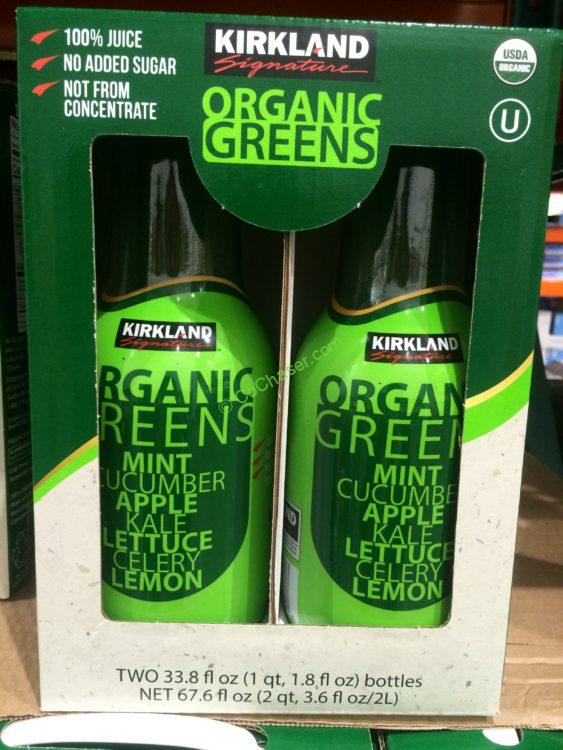 Kirkland Signature Organic Green Fruit Juice 2/33.89 Ounce Bottles