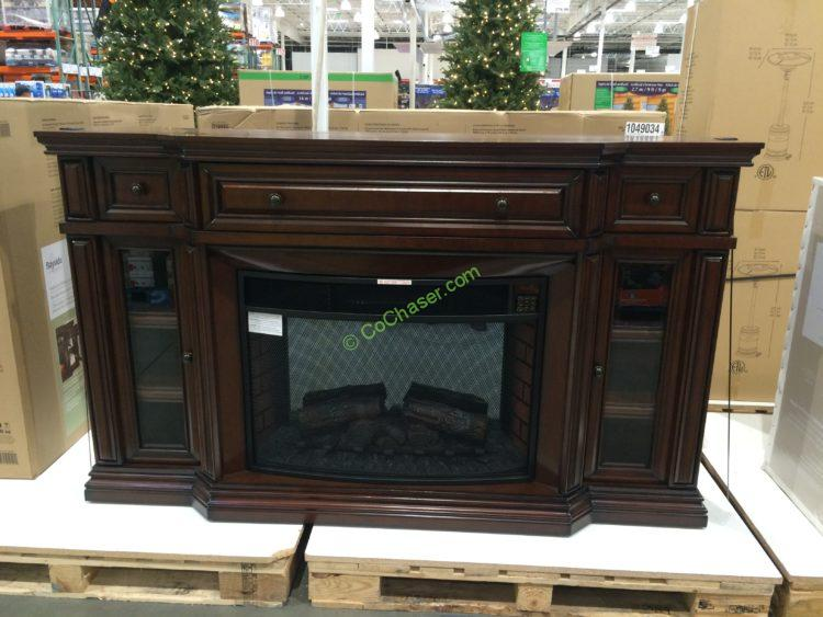 "Green Entertainment Center Costco: Ember Hearth 72"" Electric Media Fireplace"