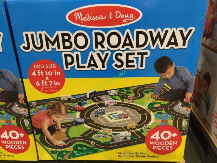 Costco 1140412 Melissa Doug Jumbo Roadway Play Set