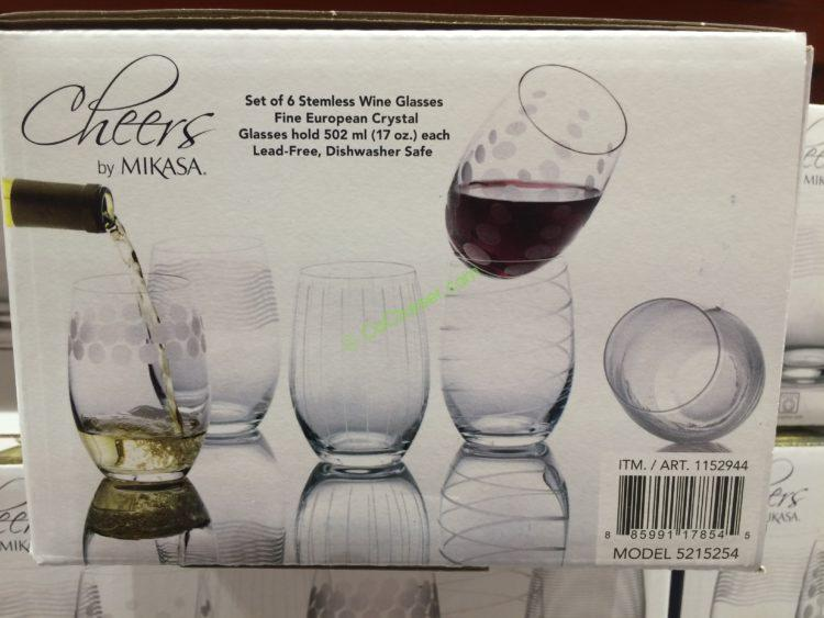 d38d76ce6e6 Mikasa Cheers Stemless Glass 6PC Set – CostcoChaser
