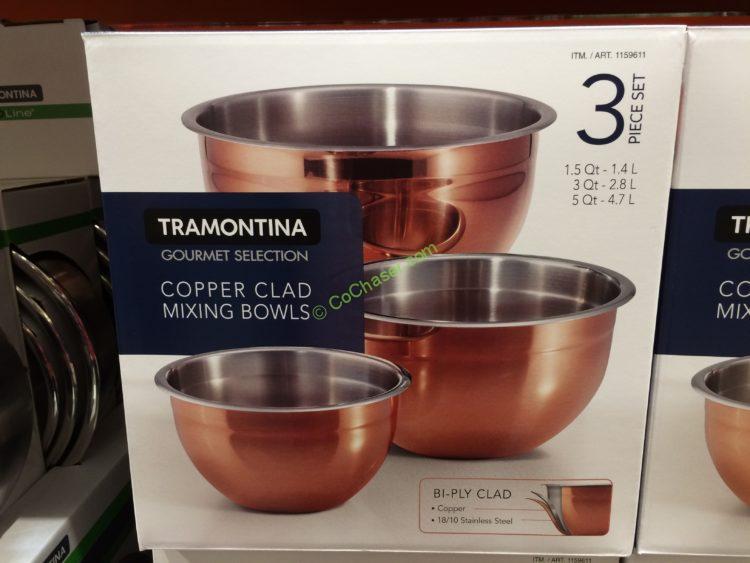 Tramontina 3PK Copper Clad Mixing Bowl Set