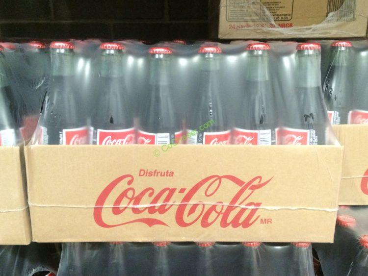 COCA COLA of Mexico Made with Pure Cane Sugar 24/12 Ounce Bottles