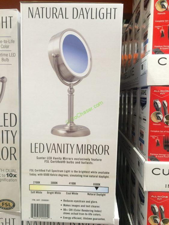 Costco 2089081 Sunter Led Vanity Mirror Back Costcochaser
