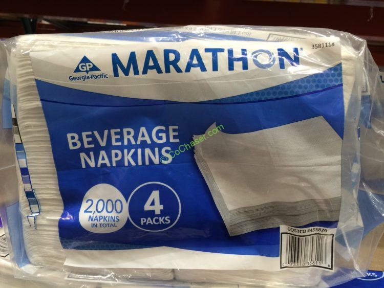 Marathon Beverage Napkins 2000 Count