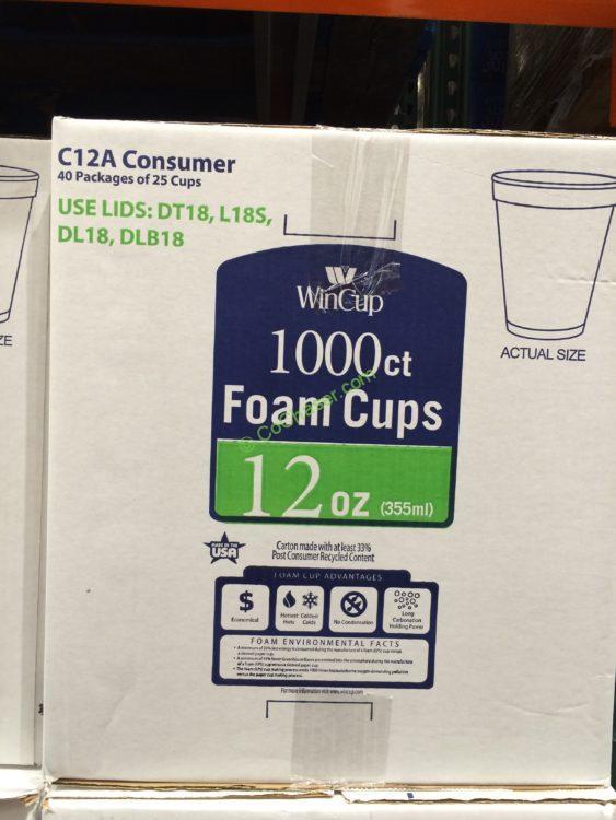 Wincup 12 OZ Foam Cup 1000 Count