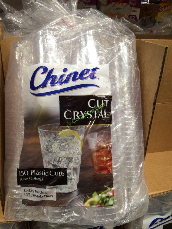 Chinet 10 OZ Cut Crystal Cups 150Count