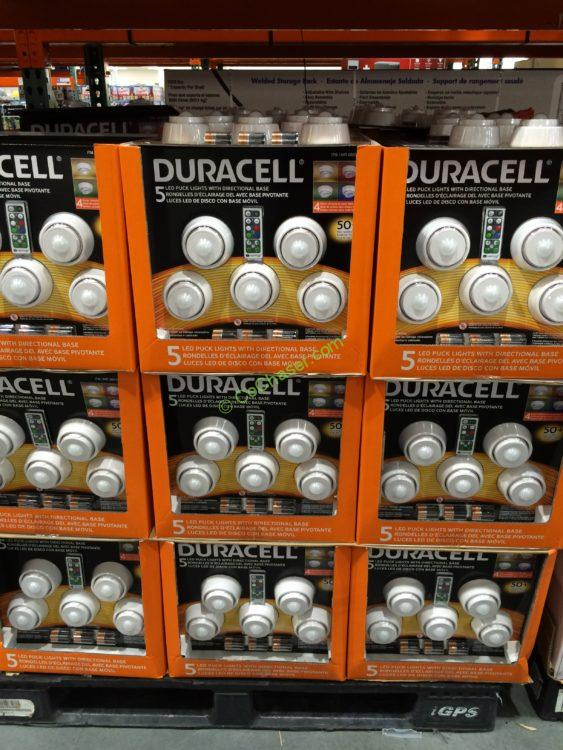 Costco 689314 Duracell 5pk Led Puck Lights All Costcochaser