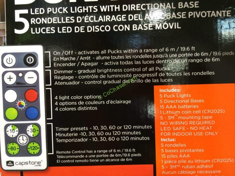 Costco 689314 Duracell 5pk Led Puck Lights Inf Costcochaser