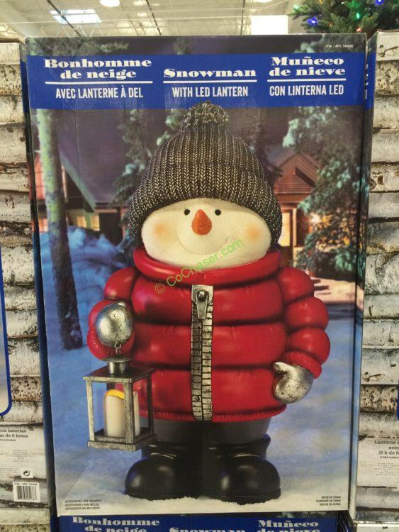 Costco 740265 Standing Snowman With Led Lantern Box