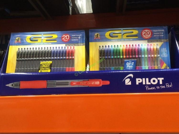 Pilot G2 Gel Pen Assorted 20 Pack