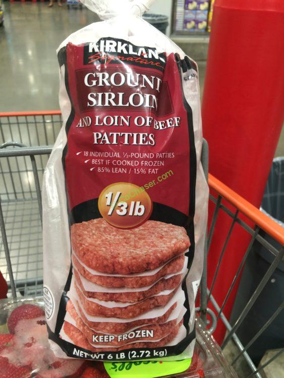 Kirkland Signature Ground Beef Patties 6 Pounds Bag