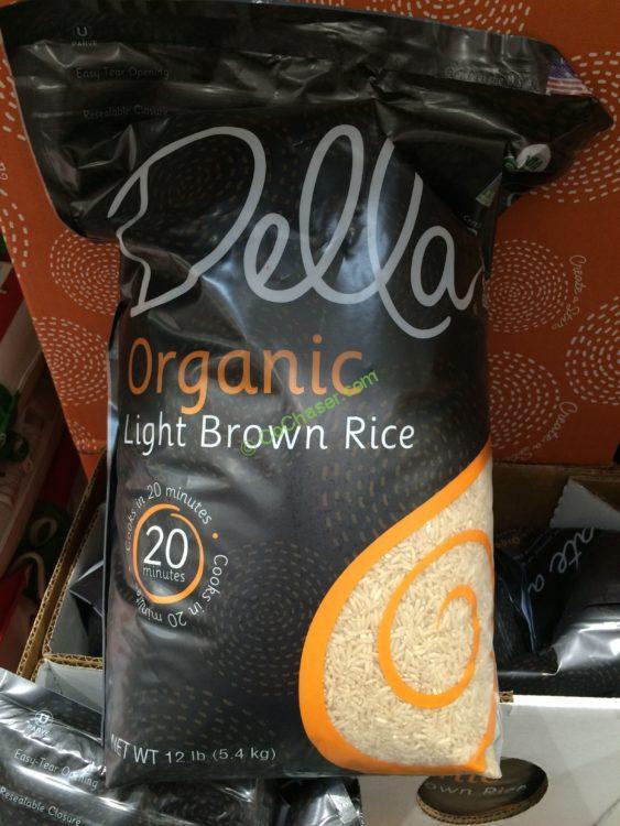 Della Organic Brown Rice 12 Pound Bag
