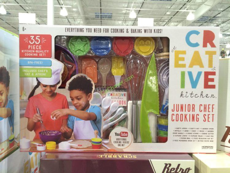 Creative Kitchen Junior Chef 35-Piece Cooking Set