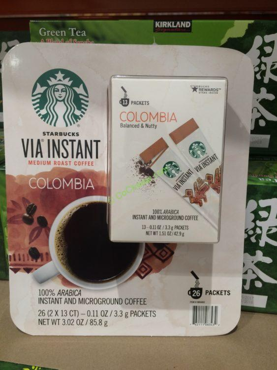 Starbucks Via Colombian Coffee 26 Packets