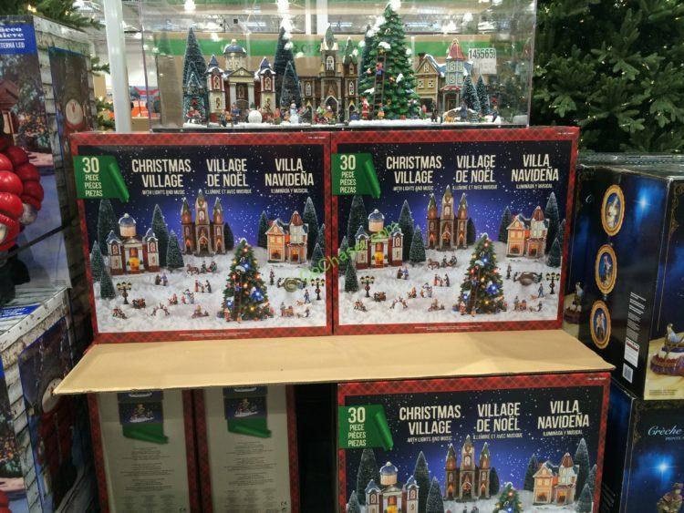 costco 999843 christmas village led lights music all