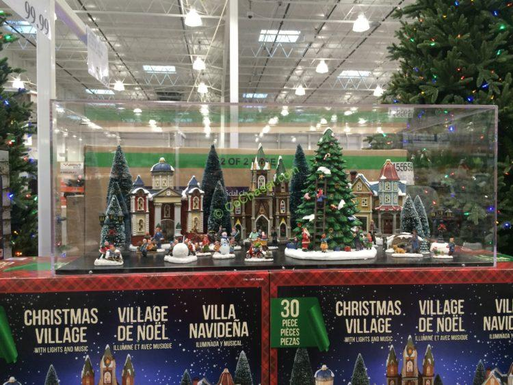 costco 999843 christmas village led lights music