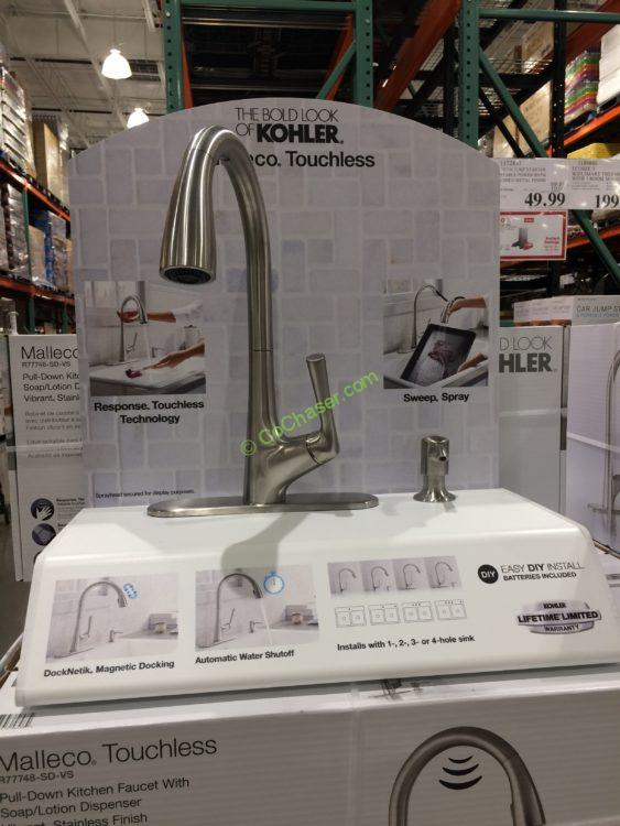 Kohler Malleco Touchless Pull-down Kitchen Faucet