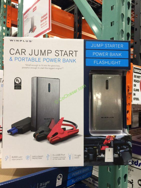 Lithium Jump Starter Portable Power Bank with Brush Metal Finish