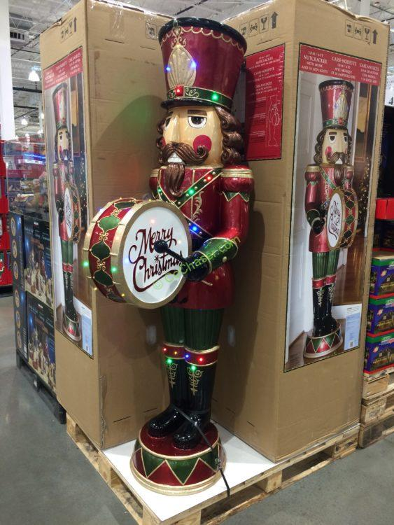 6' LED Nutcracker Drum and Music Indoor & Outdoor Use