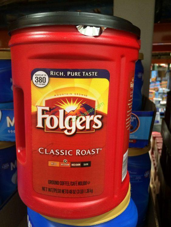 Folgers Classic Roast 3 Pound Container
