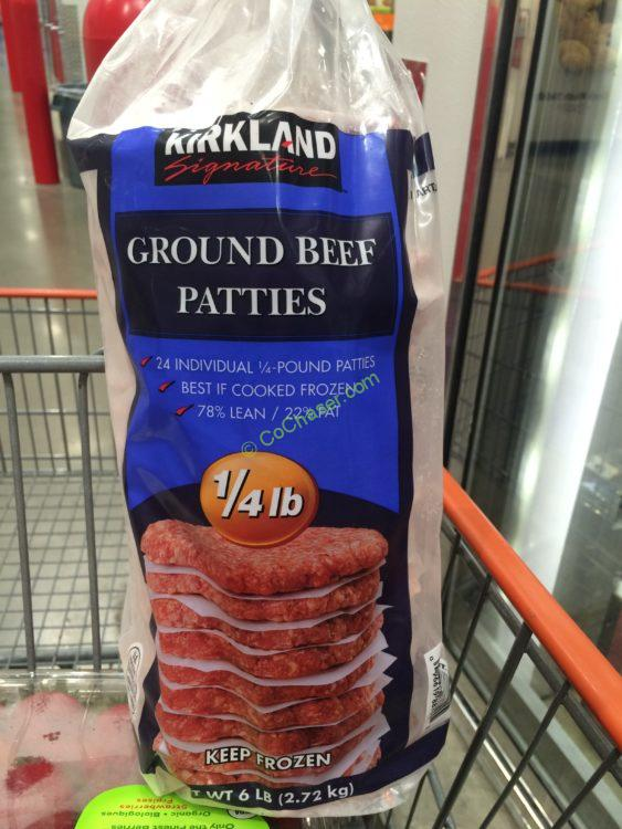 Kirkland Signatures Ground Beef Patties 6 Pound bag