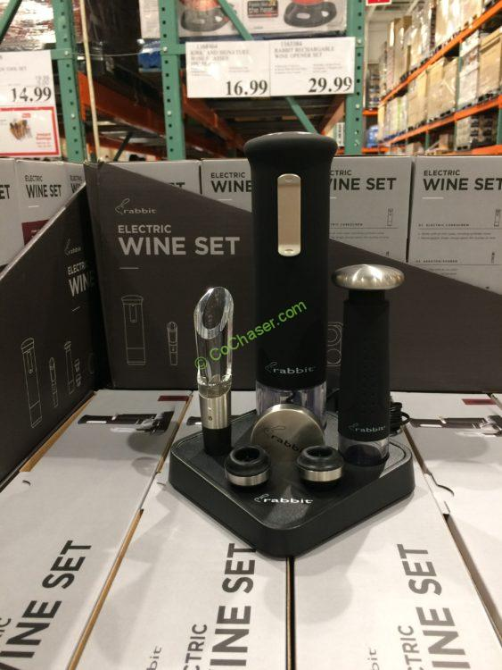Coost-1163384-Rabbit-Rechargeable-Wine-Opener-Set