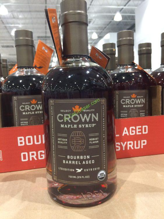 Crown Maple Organic Bourbon Maple Syrup 25 Ounce Bottle