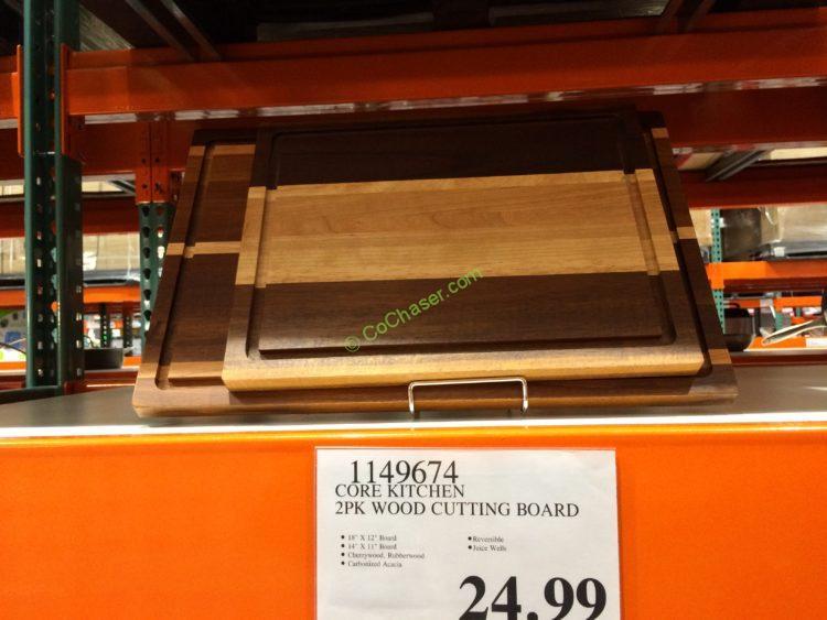 Core Kitchen 2PK Wood Cutting Board